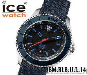 あす楽 送料無料 ICE WATCH アイスウォッチ 腕時計 メンズ BMW コラボモデル 43ミリ 青 紺 ブルー キャンバス レザー 安心防水 BM.BLB.U.L.14 ビジネス プレゼント ギフト お洒落