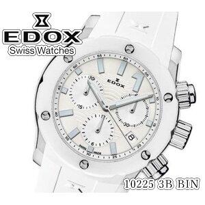 [New] [Free Shipping] [EDOX] EDOX Watch Chrono Offshore 1 Quartz Chronograph 300m Waterproof 10225 3B BIN Ladies Calendar Tachymeter [Regular Import]