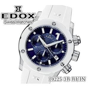 [جديد] [شحن مجاني] [EDOX] EDOX Watch كرونو أوفشور 1 كوارتز كرونوغراف 300 متر مقاوم للماء 10225 3B BUIN تقويم السيدات أداة تحديد المسافات بسرعة [استيراد منتظم]