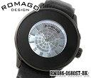 あす楽 送料無料 ROMAGO ロマゴ Numeration ヌメレーションシリーズ メンズ レディース 腕時計 RM086-0580ST-BKクォーツ レザー ベルト アナログ ビジネス お祝い 誕生日