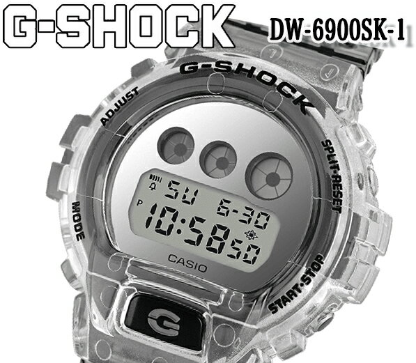 腕時計, メンズ腕時計  CASIOG-SHOCK G2019 CASIO Clear Skeleton DW-6900SK-1