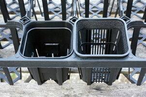 マジカルポット90(40個セット)ブラックプラスチック鉢2.5号鉢実生育苗多肉植物サボテン根腐れ防止鉢内温度低下根巻き防止通気性抜群タニサボ