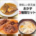 美味しい防災食 おかず3種類セット さば味噌煮・牛丼の具・豚汁