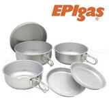 EPIgas アルミ6点食器セット C-5307(防災グッズ/食器/キャンプ/防災セット/鍋/コッヘル/皿/ストーブ/バーナー/非常用持ち出し袋/アウトドア/EPIガス/イーピーアイガス/登山/トレッキング/フィッシング)