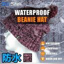 防水 通気 ニット帽 DexShell DH342-PK ピンク/ブラック ポンポン 帽子 アウトドア スポーツ【メール便発送可】