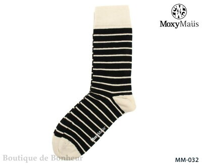 【Moxy Maus】【モクシーマウス】ボーダー ストライプ アーガイル ソックス 靴下 ボーダー 切り...