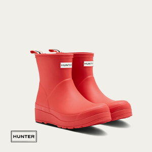 HUNTERハンターレディースオリジナルプレイショートブーツ[ロゴレッド]ハンタージャパン正規輸入品