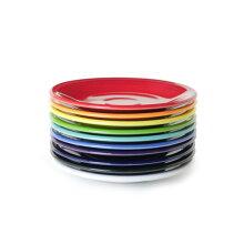 フィエスタFIESTAプレート18cmアメリカ食器海外大皿丸皿陶器電子レンジ可食洗機可オーブン可業務用レッドフリー(無鉛釉薬)赤青緑紫白黒キッチン