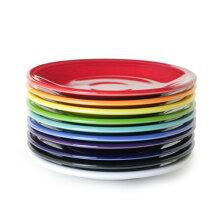 フィエスタFIESTAプレート23cmアメリカ食器海外大皿丸皿陶器電子レンジ可食洗機可オーブン可業務用レッドフリー(無鉛釉薬)赤青緑紫白黒キッチン