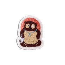 小物まめふくブローチ信楽たぬき日本JAPAN雑貨小物ブローチ刺繍商売繁盛立身出世縁起開運手作りハンドメイド贈り物ギフト信楽たぬき