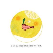 NOBANAタオルハンカチたんぽぽとマリーゴールドの刺繍
