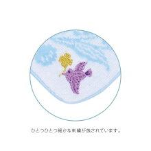 NOBANAタオルハンカチ白つめ草とスズランの刺繍