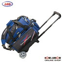 ABS B20-1500(ブルー)ボウリングバッグ ボウリング ボール 小物 2個 人気 シューズ バッグ 売れ筋 ブルー 青 グッズ 用品 鞄 ボーリング カート