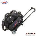 ABS B20-1500(ブラック)ボウリングバッグ ボウリング ボール 小物 2個 人気 シューズ バッグ 売れ筋 ブラック 黒 グッズ 用品 鞄 ボーリング カート