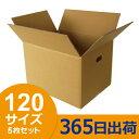 ダンボール (段ボール箱) 120サイズ 5枚セット(切込取っ手穴) 引越し(引っ越し)・配送用