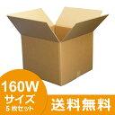 ダンボール (段ボール) 160Wサイズ 8mm 5枚セット 引越し・配送用(WF ダンボール箱)