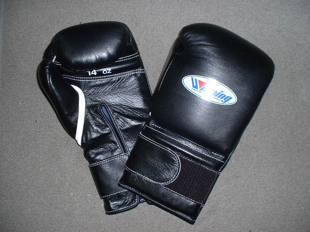 winning gloves  【IN STOCK 】  WINNING 14 oz. boxing gloves with velcro closure(professional type)