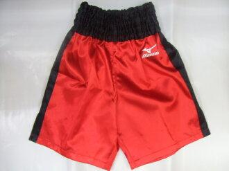 Satin Mizuno boxing pants (red x black)