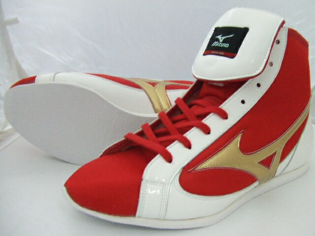 ミズノショート boxing shoes ( shop オリジナルレッド x White x Gold ) ランバードロゴ on original shoe bag with (boxing supplies & ring shoes)
