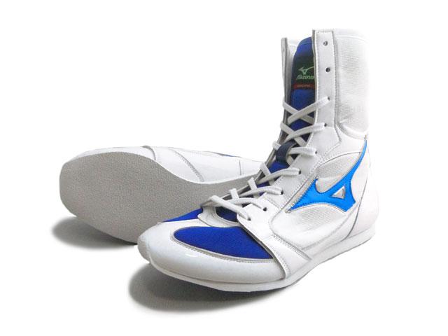 America-ya 2010 Mizuno boxing shoes (white x metal blue line ) original shoe bag