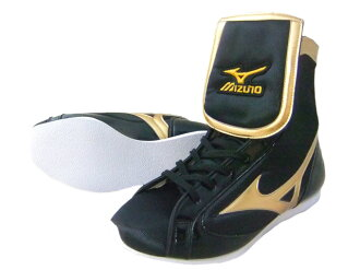 MIZUNO boxing shoes black x Gold made in Japan