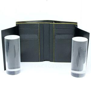 ランボルギーニレザーベルティカルウォレットコントラストブラック9012396LLB052