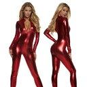 海外ブランド ForPlay フォープレイ レディース ジャンプスーツ モックネックメタリックカラーフロントジッパージャンプスーツ/ワンピース・パーティ・クラブ・衣装