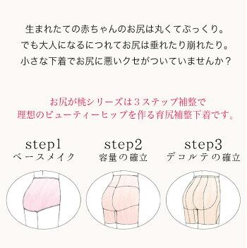 おしりが桃パンツ・3ステップ説明
