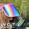 顔全体をカバー【UV CUT サンバイザー 全2色】uvカット サンバイザー 可動式 バイザー越しでも視界広々 顔が隠れる02P03Dec16