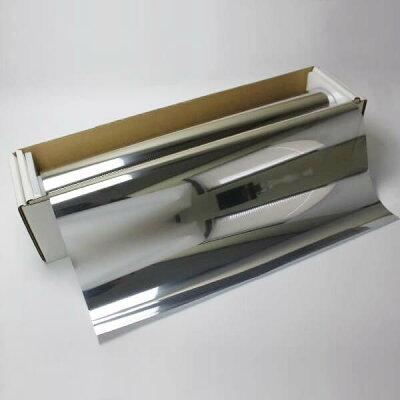 【窓ガラスフィルム】【ガラスシート】【ミラーフィルム】シルバー15 50cm幅×長さ1m単位切…