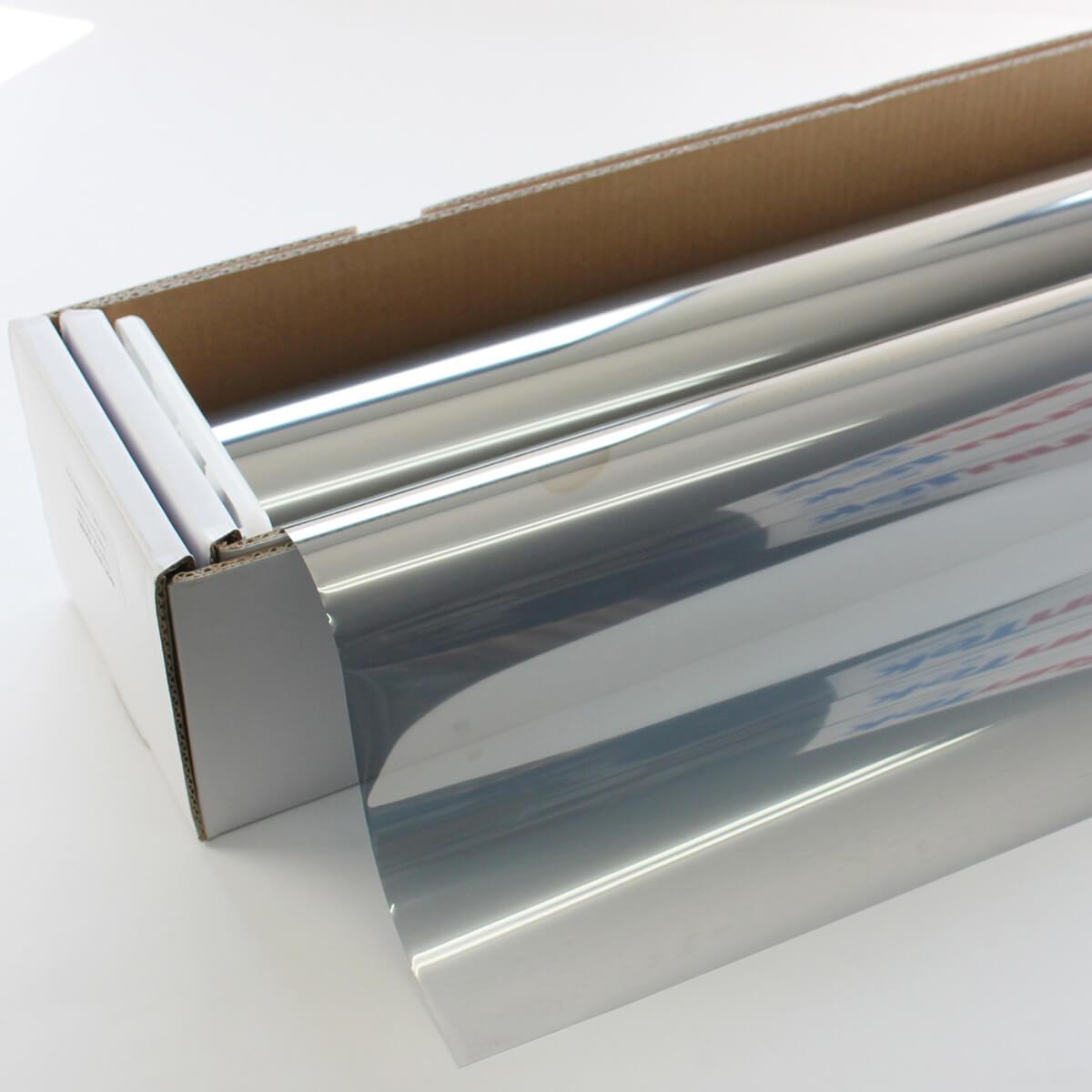 ウィンドウフィルム 窓ガラスフィルム シルバー35W(外貼り用) 幅広1.5m幅×30mロール箱売 マジックミラーフィルム 遮熱フィルム 断熱フィルム UVカットフィルム ブレインテック Braintec:カーフィルム スモーク Braintec