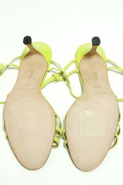 【送料無料】【ManoloBlahnikマノロブラニク】レースアップ編み上げレザーサンダルライムグリーン【】レディース女性用靴シューズ【ブランド品販売】