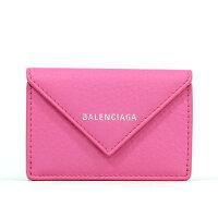 バレンシアガ BALENCIAGA ミニ財布 三つ折り財布 ペーパーミニウォレット ローズマゼンタ 391446 DLQ0N 5503
