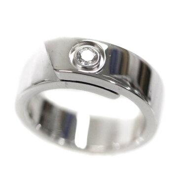【中古】CARTIER カルティエ アニバーサリーリング 1Pダイヤ #48 リング・指輪 レディース 7号 WG K18ホワイトゴールド 【新品仕上げ済み】