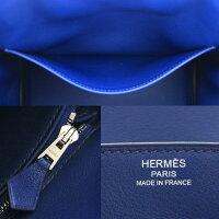 【送料無料】HERMES【エルメス】バーキン25ハンドバッグトートバッグレザー□R刻印2014年製造ブルーサフィール青ヴォースイフト【中古】
