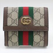 GUCCIグッチ523173GGフレンチフラップウォレットGGスプリーム財布【中古品】N21-1504中洲店