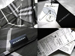BURBERRYバーバリーチェック傘メンズ黒日本製雨傘軽量【未使用】【】【新品】