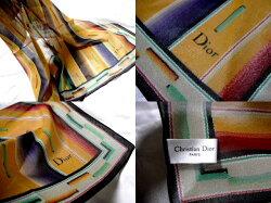 Diorディオールふんわり高級シルク100%ディオールスカーフ未使用【中古】新品