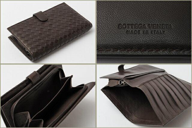 wholesale dealer f41be 5e49f BOTTEGA VENETA ボッテガ ヴェネタ 2折財布 イントレチャート ...