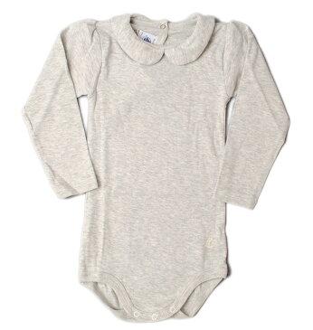 プチバトー アンダーウェア 肌着/ポロシャツボディ PETIT BATEAU ベビー 女の子 グレー 出産祝い