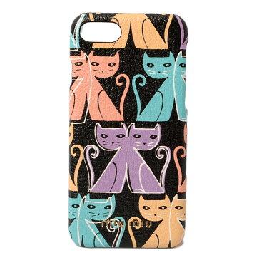ミュウミュウ iPhone8ケース/iPhone7ケース miumiu 5ZH035 MADRAS CAT/マドラス 猫/ネコ NERO/ブラックマルチ 未使用【中古】