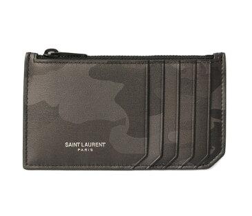 サンローランパリ コインケース/カードケース YSL メンズ SAINT LAURENT PARIS シップポーチ カーフレザー CAMOUFLAGE/カモフラ 458589