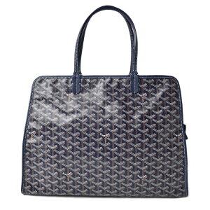 Goyal Tote Bag GOYARD Bag HARDY PM Herdybone Blue Marine [Used]