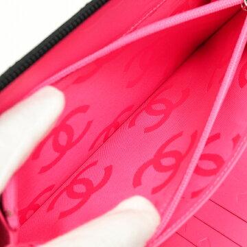 CHANELシャネルカンボンラインラージジップウォレット【中古】財布
