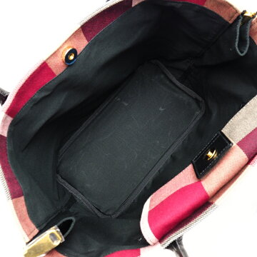 [Almost New] Burberry Burberry Blue Label Crest Bridge Canvas × Leather Women's Bag Handbag [Pre]