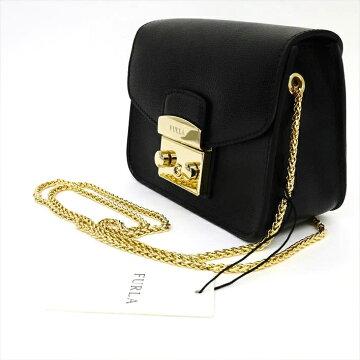 [Almost New] FURLA Full Lacrosse Body Metropolis Mini 237075 Leather Women's Bag Shoulder Bag [Pre]