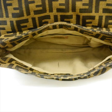 FENDI Fendi Zucca 8BR353-JWU canvas × leather ladies' bag shoulder bag [pre]