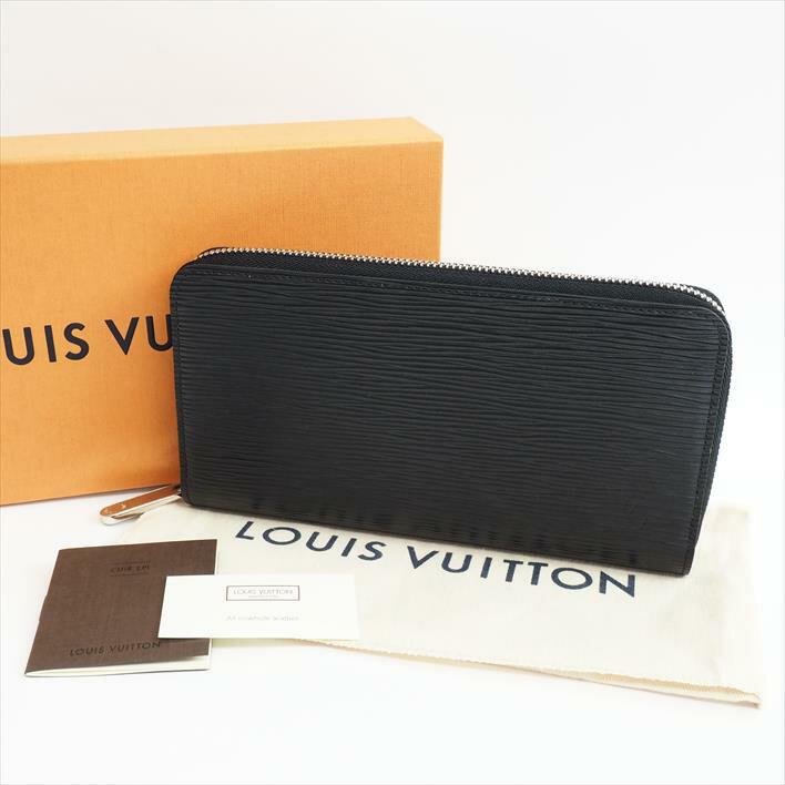 【未使用品・新古品】LOUIS VUITTON ルイヴィトン ジッピー・ウォレット エピ M60072 エピレザー メンズ財布 長財布(小銭入れあり) 【中古】:ブランドショット東京