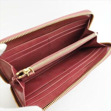 【美品】PRADAプラダマドラス1ML506レザーレディース財布長財布(小銭入れあり)【中古】
