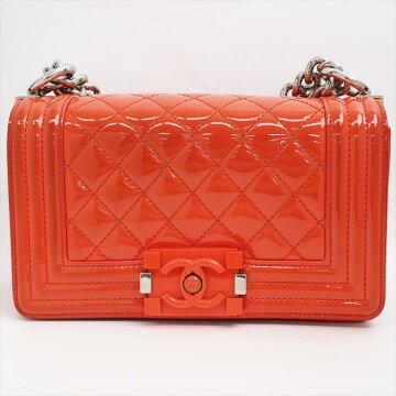 1f9a132fe1be [美 品] CHANEL Chanel chain shoulder boy Chanel enamel calf Ladies' bag  shoulder
